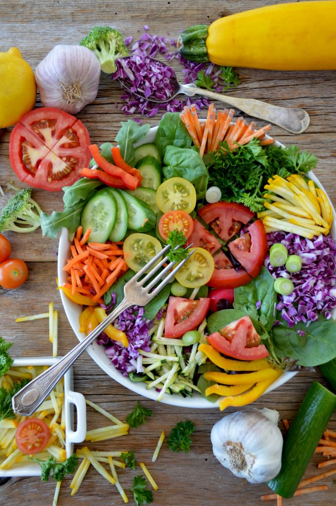 Salad with colorful vegetables